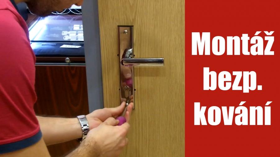 Montáž bezpečnostního kování na dveře