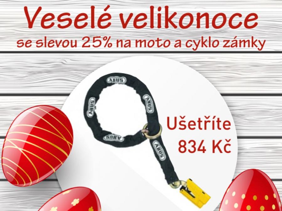 Sleva 25% na zámky na kola a motorky