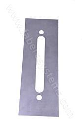 Plech pod dveřní kování ROSTEX 801 nerez (300x80mm)