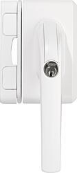 ABUS FO500 uzamykatelná okenní klika se závorou, bílá